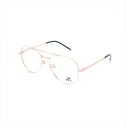 Gold White Aviator FOWL-PI9008TL-C03 Eyeglasses