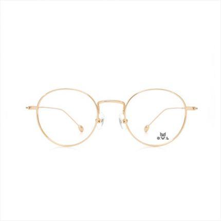Gold Round FOWL-PFARET8013A-C02 Eyeglasses