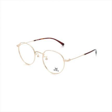 Gold Round FOWL-FARET8015-C02 Eyeglasses