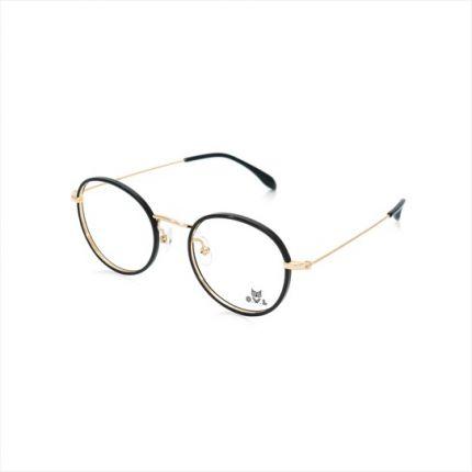 Gold Black Round FOWL-Pl16052-C02 Eyeglasses