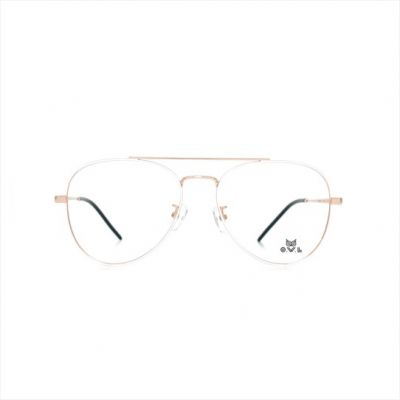 Gold White Aviator FOWL-PI9008TL-C3 Eyeglasses