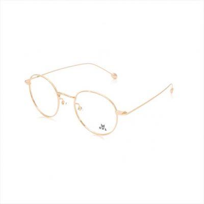Gold Round FOWL-PFARET8013A-C2 Eyeglasses
