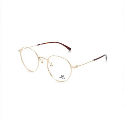 Gold Round FOWL-FARET8015-C2 Eyeglasses