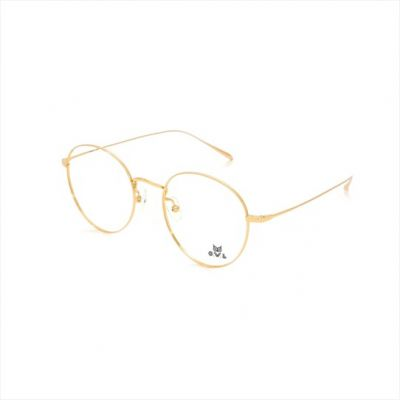 Gold Round FOWL-PJACLS0029-C1 Eyeglasses