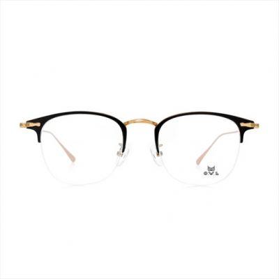 Gold Black Wayfarer FOWL-PT055-C01 Eyeglasses